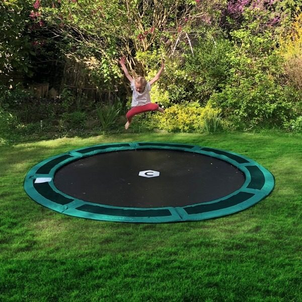 10ft round in ground trampoline