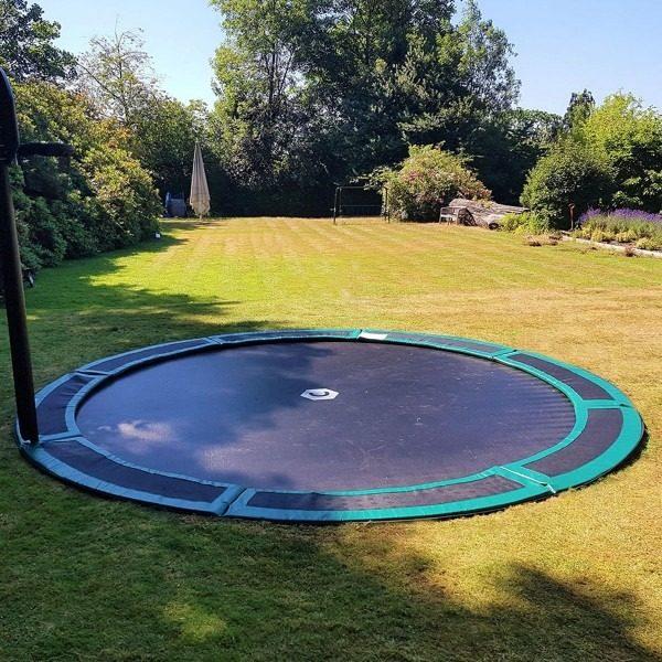 14ft round in ground trampoline