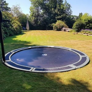 14ft round in ground trampoline