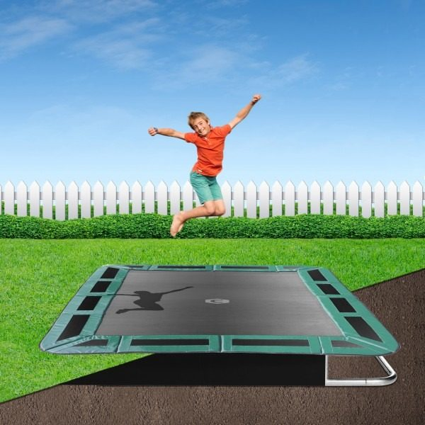 14ft x 10ft In-Ground Trampoline Green Pad