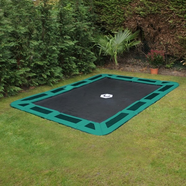 11ft X 8ft Gray In Ground Trampoline Letsbuytrampolines