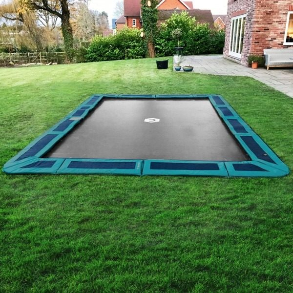 14ft x 10ft In Ground Trampoline with Blue Pad