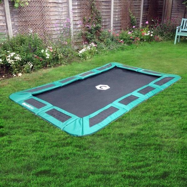 10x6 rectangular in ground trampoline