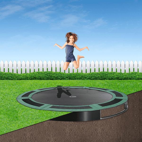 8ft round in ground trampoline